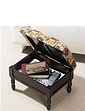 Padded Tapestry Storage Footstool
