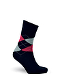 Diabetic Eazi-Grip Organic Cotton Argyle Socks 3 Pack