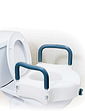 Elevated Toilet Seat with Armrests