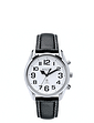 Large Number Radio Controlled Talking Watch - Leather Strap