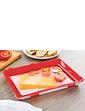 Set of 2 Stretch Lid Food Storage Trays