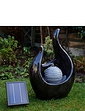 Marble Effect Solar Water Feature With Lights