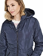 Padded Fleece Lined Hood Jacket with 2 Front Zip Pockets 42 inch