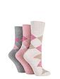 Pack of 3 Ladies Gentle Grip Socks