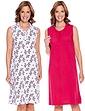Pack of 2 Sleeveless Nightdresses