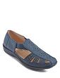Ladies Wide Fit Slip On Elastic Strap Cutout Shoe