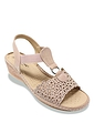 Ladies Cushion Walk Diamante Cutwork Sandal