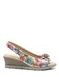Ladies Cushion-Walk Wedge Flower Sandal