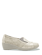 Ladies Patchwork Gusset Flexisole Comfort Shoe