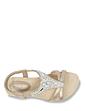 Elasticated Strap Diamante Trim Sandal