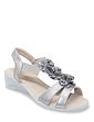 Dr Keller Wide Fit Floral Trim Sandals