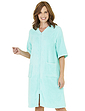Zip Through Three Quarter Sleeve Dressing Gown