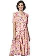 43 Inch Length Drop Waist Dress