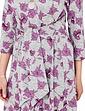 Warm Handle Tie Front Print Dress