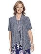 Ladies Two in One Plisse Top