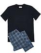 Rael Brook Loungewear T Shirt and Check Long Bottom Set