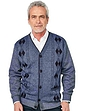 Tootal Fleece Lined Argyle Knitted Cardigan