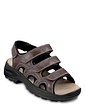 Men's Wide Fit Touch Fasten Triple Strap Leather Sandal