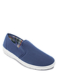 Canvas Wide Fit Elastic Gusset Slip On Shoe