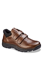Mens Water Resistant Wide Fit Touch Fasten Leather Hikers
