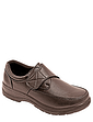 Mens Touch Fasten Comfort Wide Fit Shoe