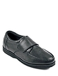 Leather Touch Fasten Shoe Extra Wide Fit