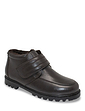 Leather Thermal Lined Touch Fasten Boot Wide Fit