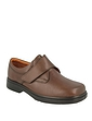 DB Mens Shoes Reece Leather Touch Fasten Ultra Wide