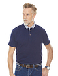 Short Sleeve Polo With Contrast Button Down Collar