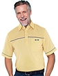 Tailored Collar Golf Polo With Half Mesh