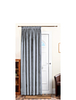 Lined Velour Door Curtains