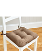 Linen Look Seat Pad Set of 2