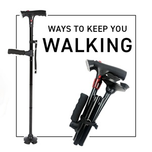 How do you use a walking stick?