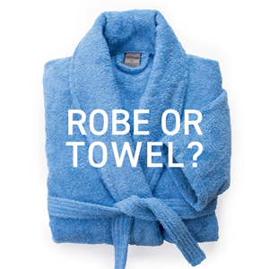Can I use a bathrobe instead of a towel?