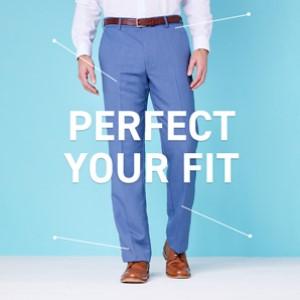 How should suit trousers fit?