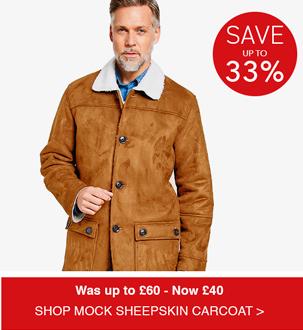 Shop Mock Sheepskin Carcoat