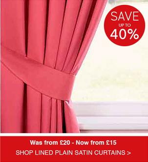 Shop Lined Plain Satin Curtains