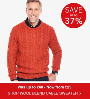 Shop Pegasus Shetland Wool Blend Cable Sweater