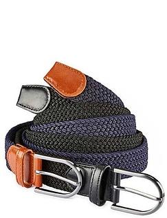 2 Pack Stretch Elastic Jean Belts