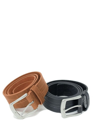 Bonded Leather Jeans Belt