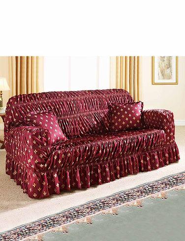Fleur De Lys Stretch To Fit Settee Furniture Cover