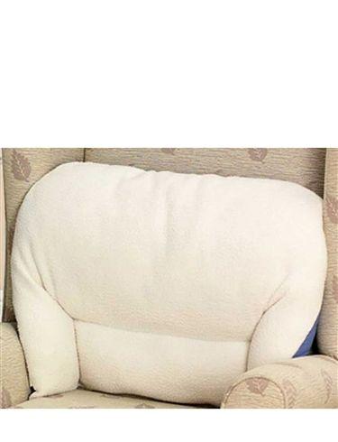 Fleece Back Rest Lumber Support Aid Armchair Cushion