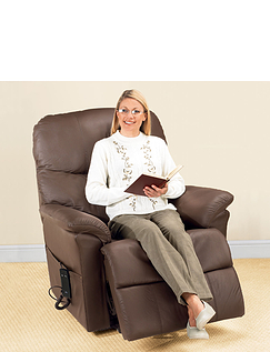 Leather Rise and Recliner Chair