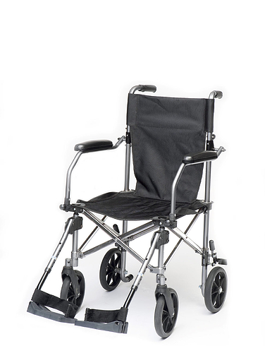 Lightweight Foldable Transit Wheelchair With Carry Bag