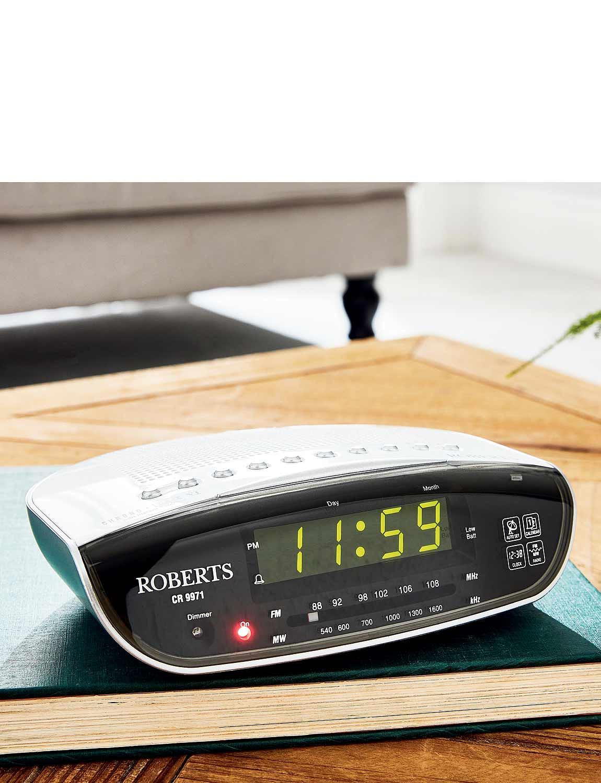 Roberts Automatic Radio Alarm Clock - Silver