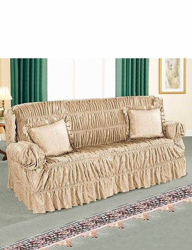 Cascade Stretchable Settee Plus 1 Chair Furniture Cover