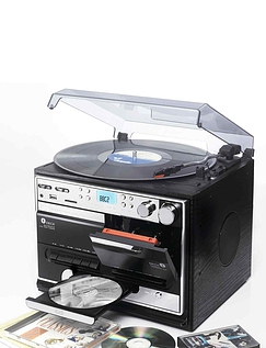 5-In-1 Music Centre with Built-in Compact Speakers and Digital Record Facility