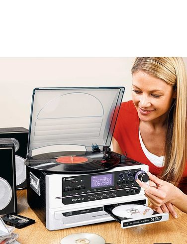 6- In- 1 Music System With CD Burner