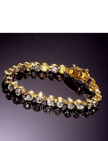 Gold Plated Magnetic Tennis Bracelet