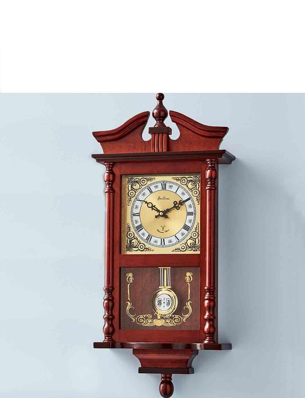 Westbury Radio Controlled Pendulum Clock - Mahogany